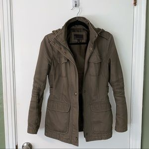 Olive Green Hooded Jacket